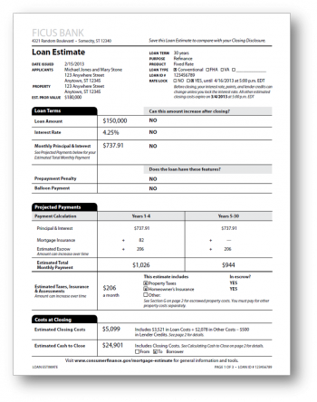 Loan Estimate Worksheet