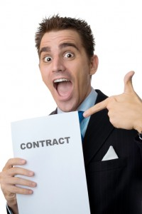 Realtor with a contract